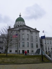 Hannah in Front of The Maine State House