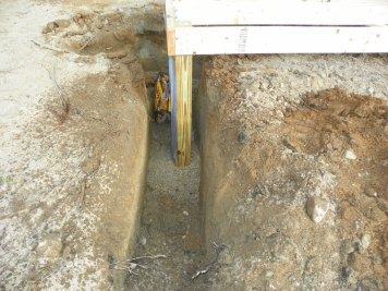 Cementing coop posts into place