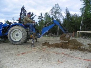 Excavating for the chicken coop