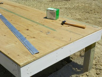 Nailing the floor to the joists