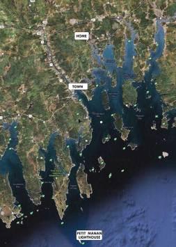 narraguagus bay cruise map