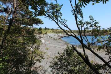 Our first view of the beach at Bog Brook Cove