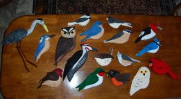 Here are my birds. This is the FIRST project of this sort I have ever done, and the only sewing class I took was back in 7th grade. Anita.