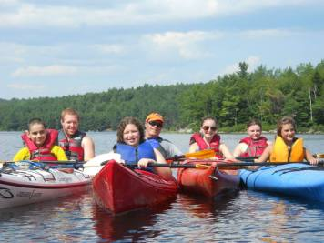 Kayaking on Long Pond group picture.