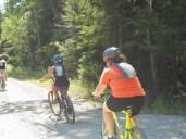 Cycling along the Sunrise Trail.