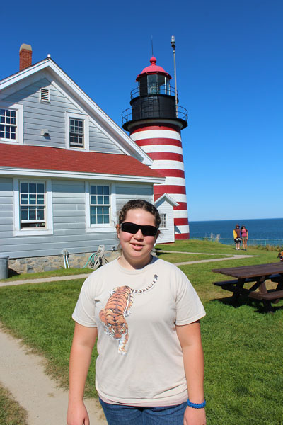 Hannah at Quoddy Head State Park.