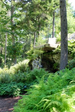 A man-made waterfall