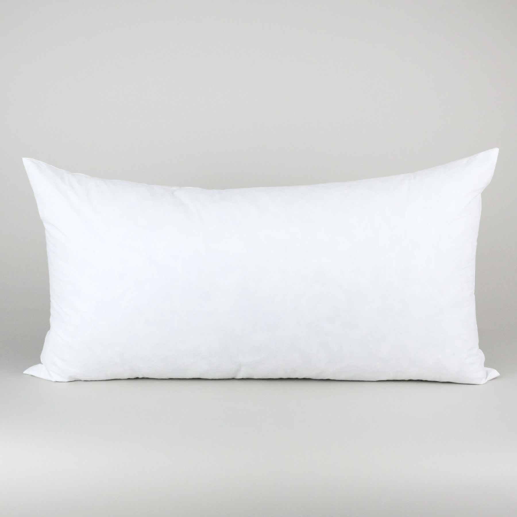 cotton covered rectangle pillow insert