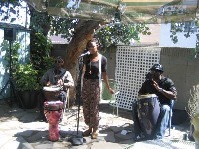 Shyy But Flyy performing at the Green Salon