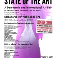 galleRoy @ The Big M and Downey Arts Coalition are proud to announce STATE OF THE ART A Democratic and Informational Art Fair For the City of Downey The Gateway Cities and Beyond Curated by Roy Anthony Shabla Sunday April 28th 2013. 11:00 am to 6:00 pm Moravian Church, 10337 Old River School Rd.,Downey California […]