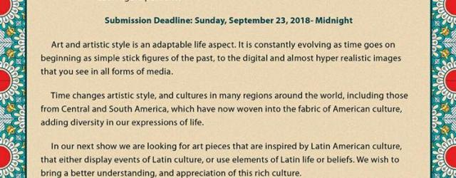 The next group art show at the Downey Theatre is coming October 20th as part of the Downey Symphony Concert Viva La Musica!  Submit your work to curator Andrew Hernandez, *protected email* by September 23rd. We are looking for art pieces inspired by Latin American culture. Details below.
