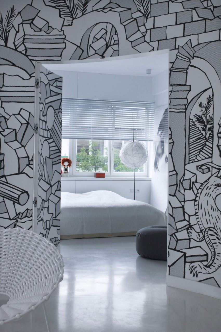 Creative Wall Mural that Enhanced Your Apartment Interior on Creative Wall  id=12934