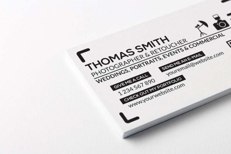 20 Free Printable Templates for Business Cards Free Photography Business Card Template