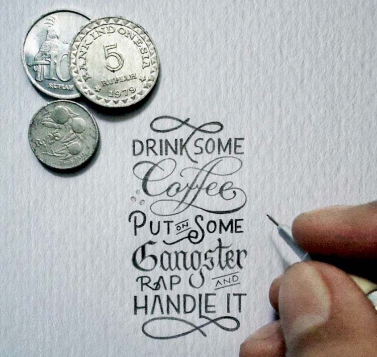 Inspirational Miniature Calligraphy