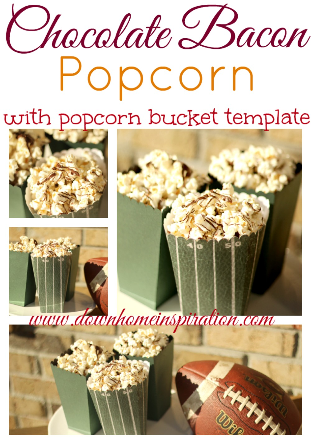 Chocolate bacon popcorn with a popcorn bucket template down home did you all know that national popcorn day was yesterday yeah i didnt either but i had been planning to make some popcorn anyway maxwellsz