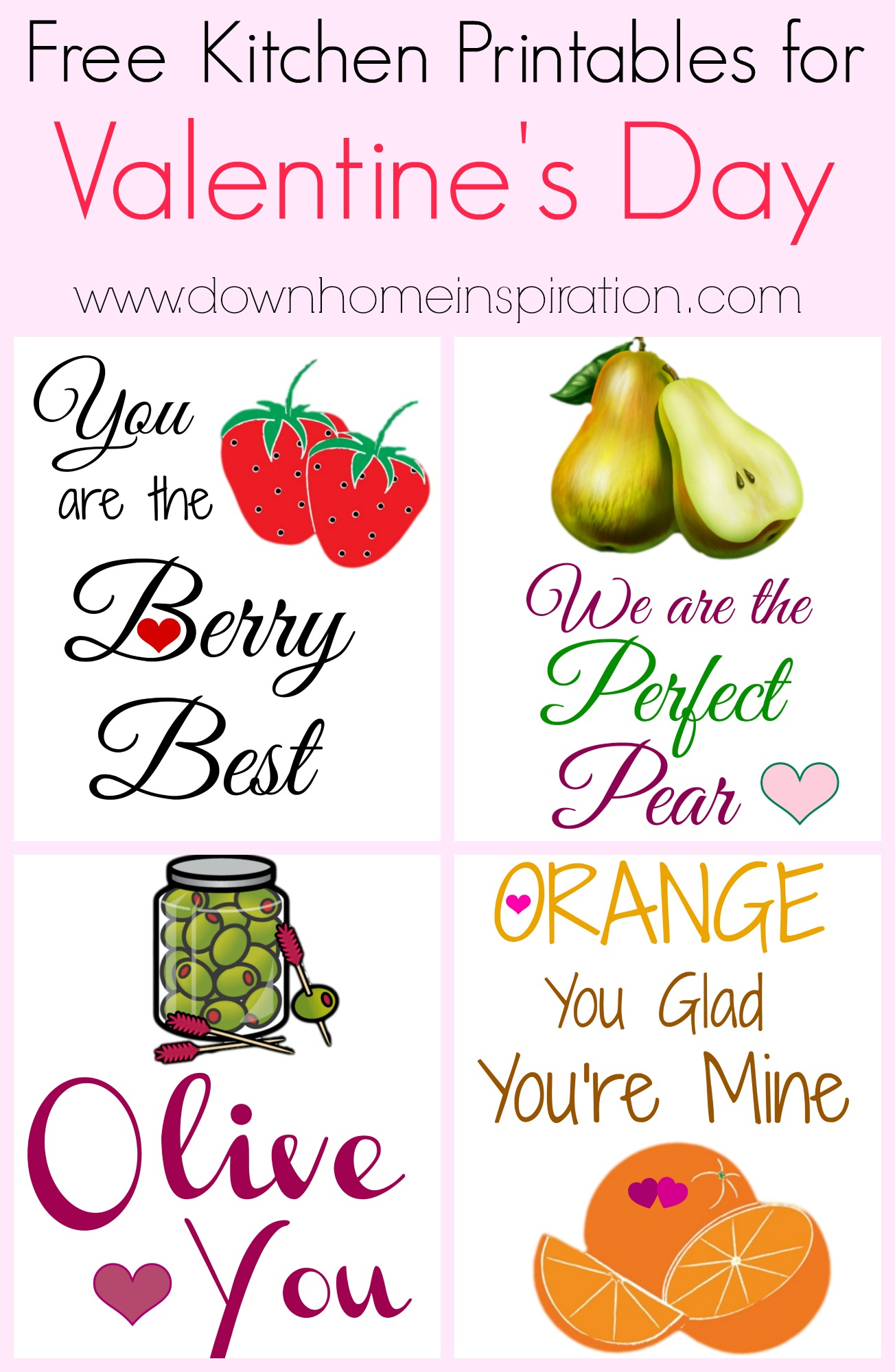 photo about Free Kitchen Printables titled Free of charge Kitchen area Printables for Valentines Working day - Down House