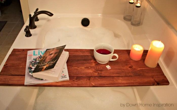 DIY Bath Shelf - Down Home Inspiration