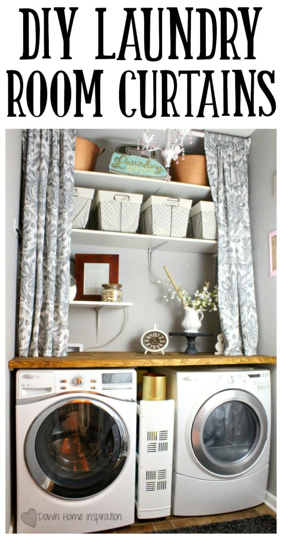 DIY Laundry Room Curtains