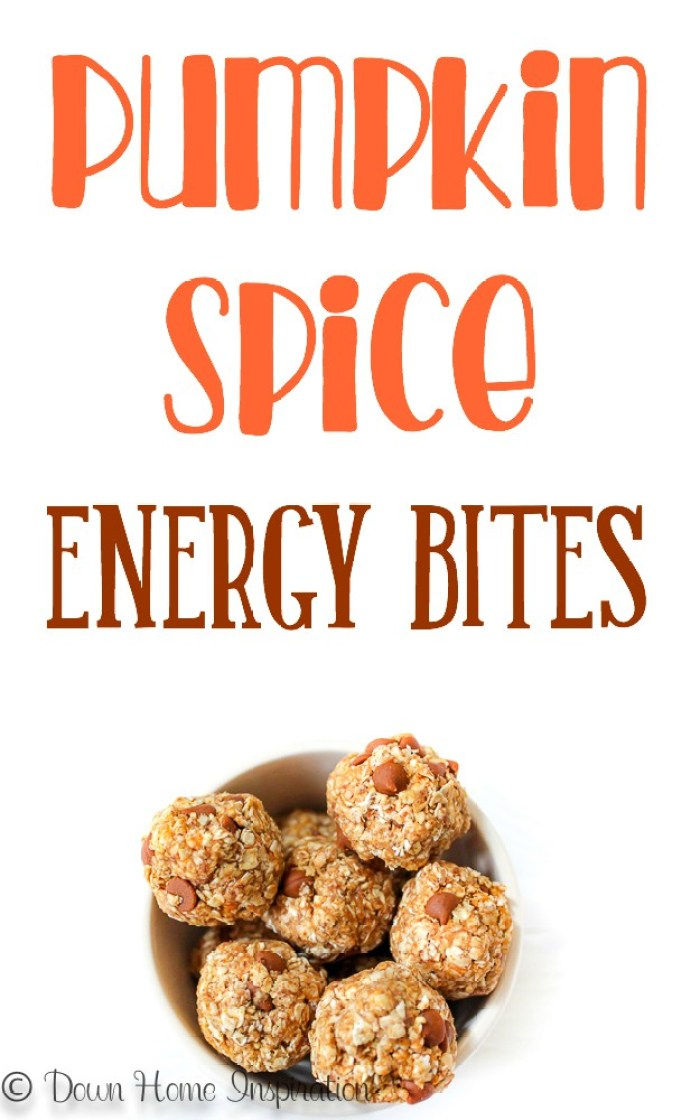 Pumpkin spice energy bites