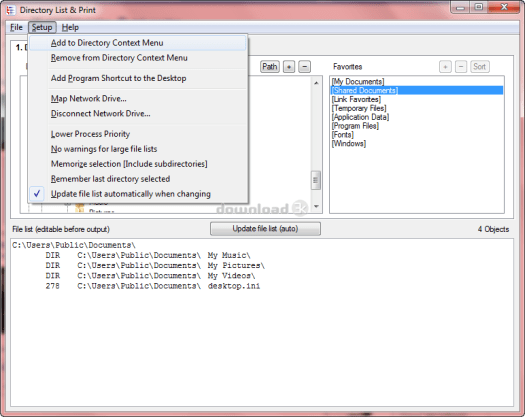 Directory List and Print Pro Serial key v4.06