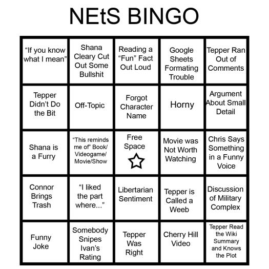 NEtS Bingo