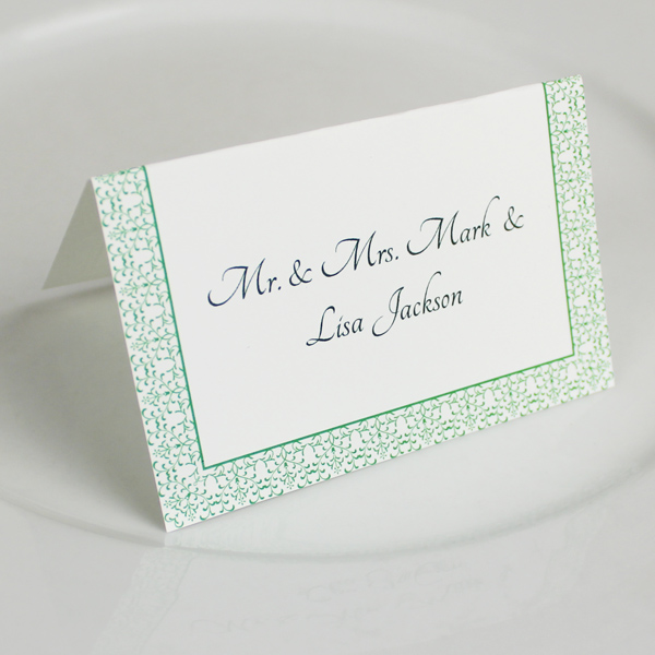 Vine Reception Place Card Template 1