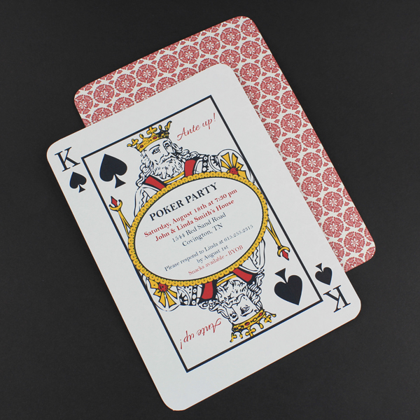 Poker Night Invitation Template Download Amp Print