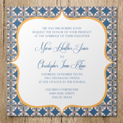 Italian Mosaic Printable Wedding Invitation