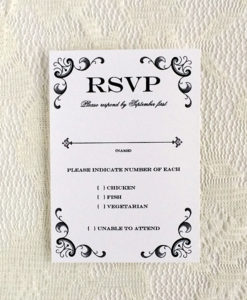 Vine Iron And Lace Wedding Rsvp Template Print