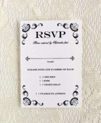 halloween wedding response card wording