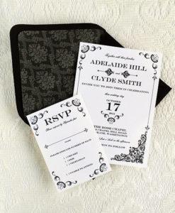 Diy Vine Iron Lace Wedding Invitation Template Print Rsvp Cards