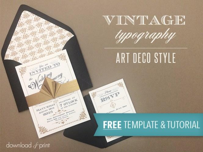 Diy Vintage Wedding Invitation With Free Template