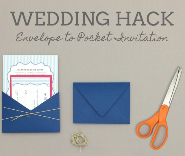 How To Turn Envelope Into Wedding Invitation Pocket Download Print