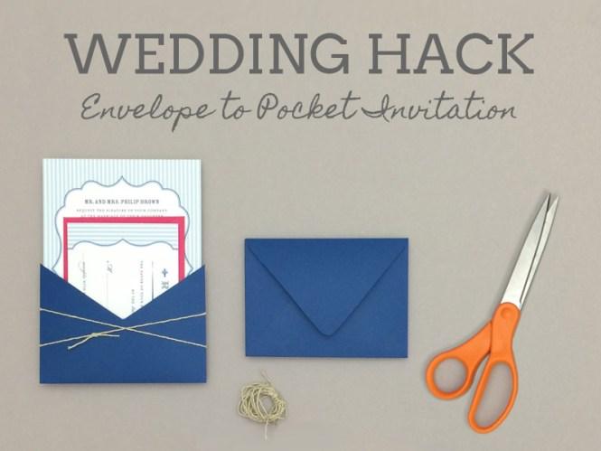 Pocket Wedding Invites