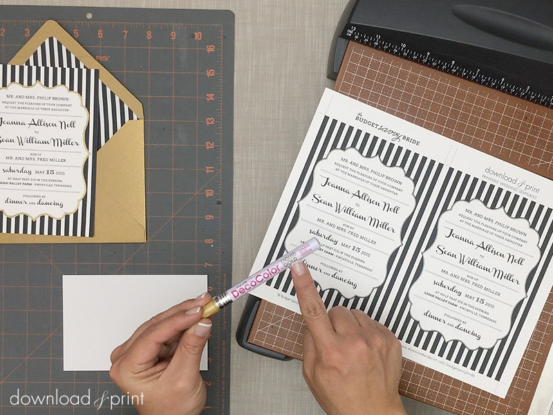 Supplies Needed For Diy Faux Foil Wedding Invitations Print