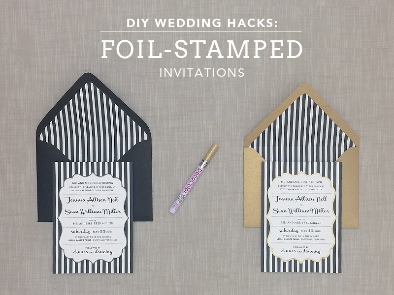 Diy Foil Sted Wedding Invitation Print