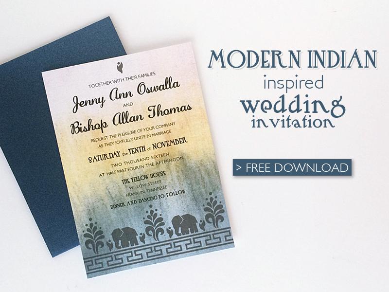 free diy modern indian wedding