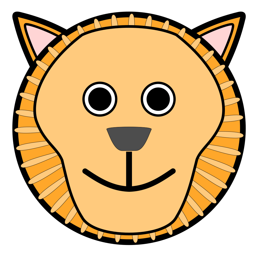 Lion Rounded Face Svg Clip Arts Download