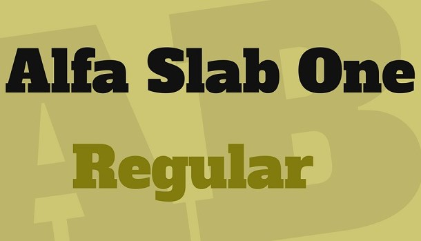 Alfa Slab One Font Free Download