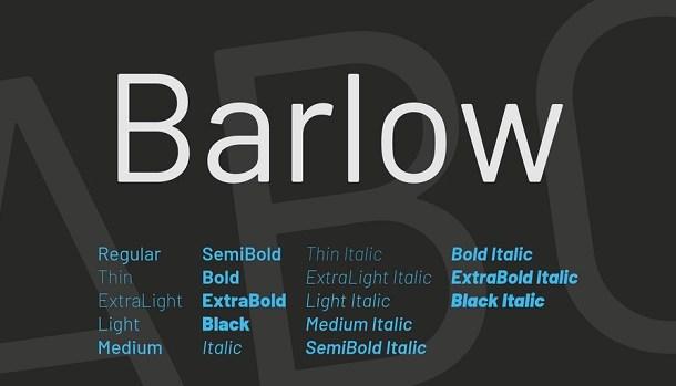 Barlow Font Free Download