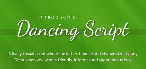Dancing Script Font Family Free