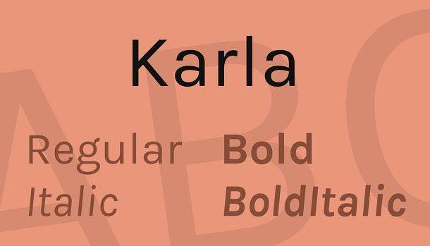 Karla Font Family Free