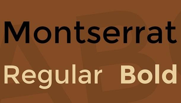 Montserrat Font Family Free
