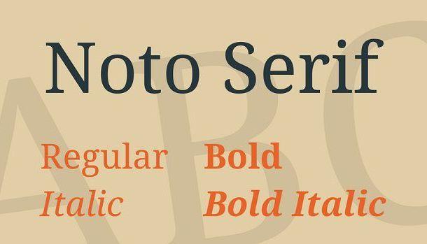 Noto Serif Font Family Free