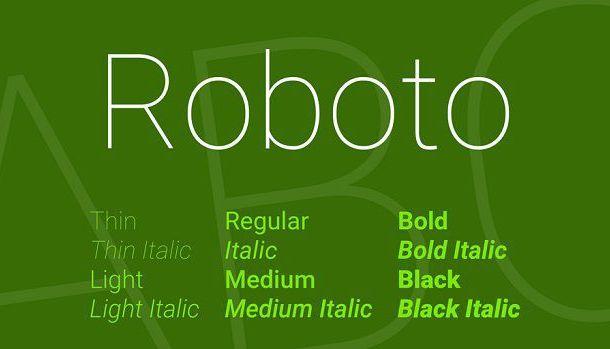 Roboto Font Family Free