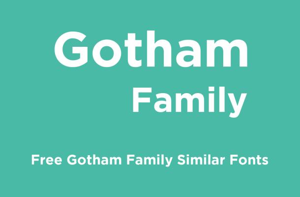 Gotham Font Family – Free Alternatives