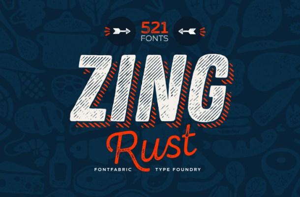 Zing Rust Font Free