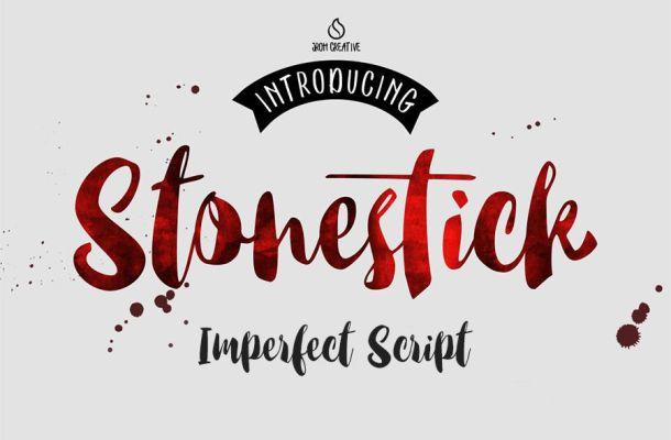 Stonestick Imperfect Script Font