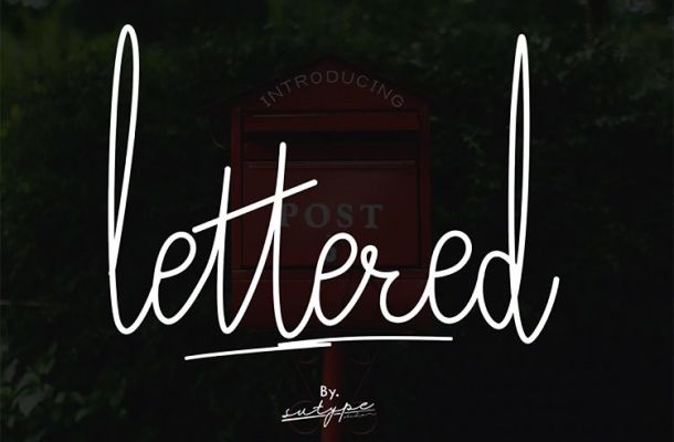 Lettered Signature Font