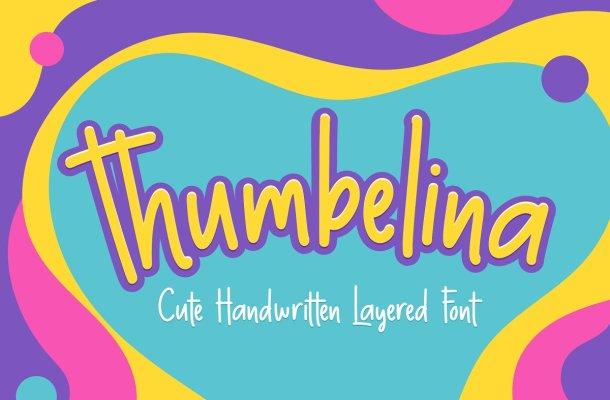 Thumbelina Free Handwritten Font